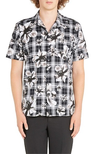 Neil Barrett/Tartan Floral Sport Shir