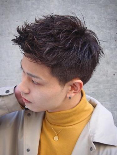 ゆるツイストアップバングショートヘア