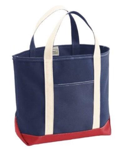 Custom Tote Bag Large Natural/Red/Blue