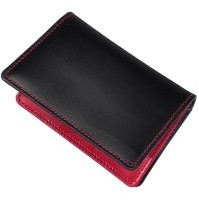 GUSSETED CARD CASE/VINTAGE BRIDLE