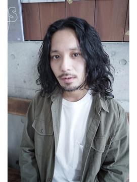 クールウェーブ黒髪ロングヘア