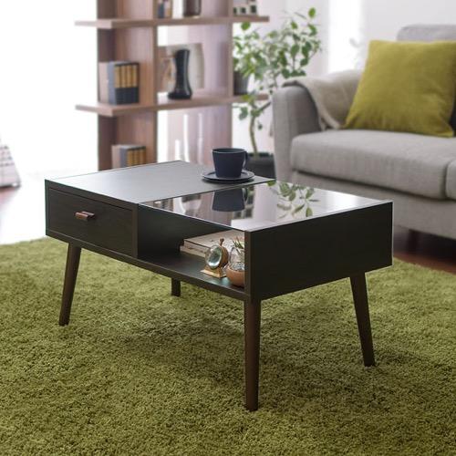 ガラス・木製テーブル