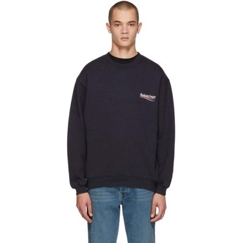 Balenciaga/Navy Campaign Logo Sweatshirt