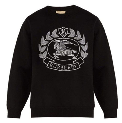 Burberry/Crest-jacquard sweatshirt