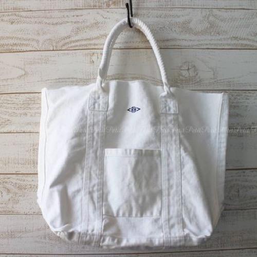 RHロゴ刺繍 キャンバストートバッグ