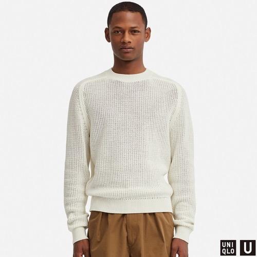 コットンクルーネックセーター(長袖)