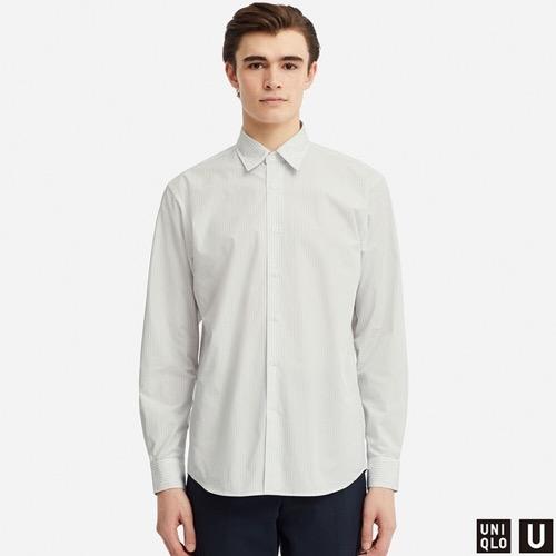 エクストラファインコットンブロードストライプシャツ(長袖)