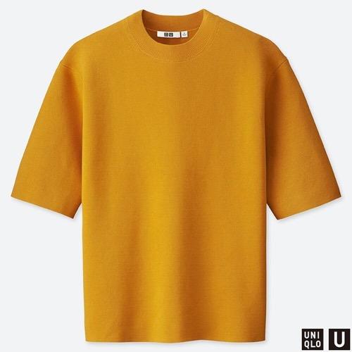 ミラノリブクルーネックセーター(半袖)