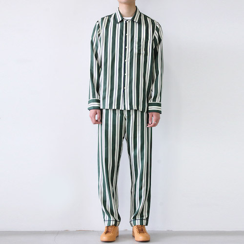 HENRY PAJAMA SHIRT SILK TWILL STRIPE