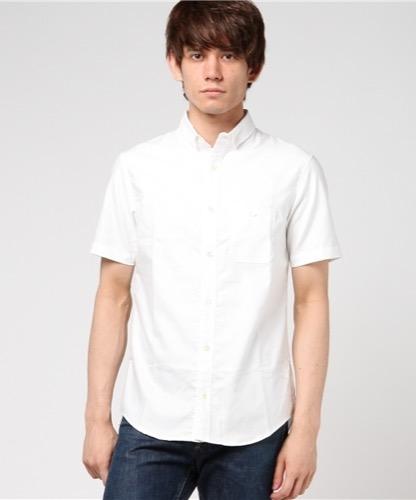 白半袖シャツ