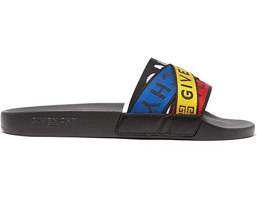 Logo-strap rubber slides Sandal