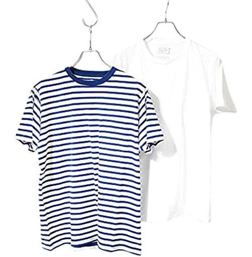 クルーネックorVネック Tシャツ2枚セット