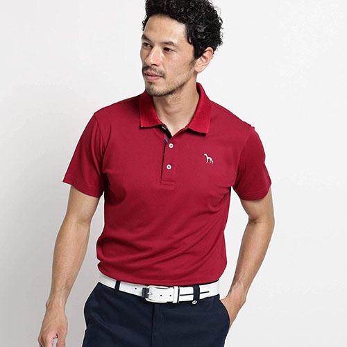 【吸水速乾/UVカット】チェーンモチーフ半袖ポロシャツ