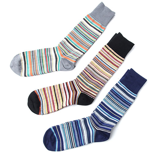 Paul Smith/MEN SOCK 3 PACK MULTI""