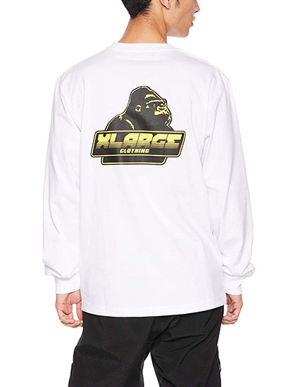 X-LARGE バックプリントTシャツ