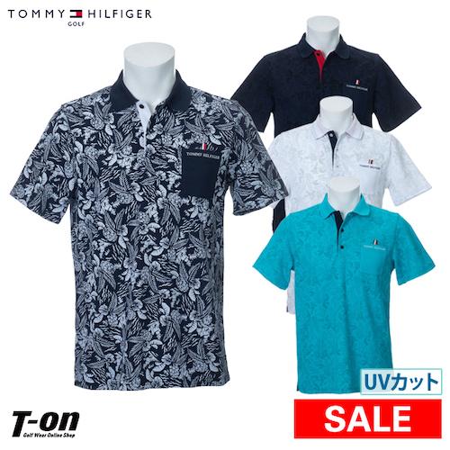TOMMY HILFIGER GOLF/ボタニカル柄半袖ポロシャツ