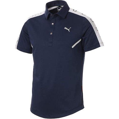PUMA/CAショルダーパネル半袖ポロシャツ B07P557MM8