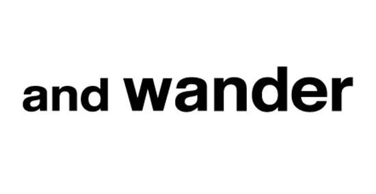 and wander(アンドワンダー) ロゴ