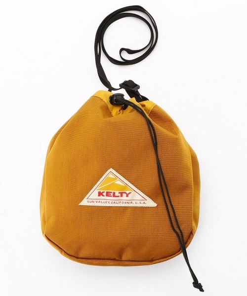 KELTY/KINCHAKU SHLDR M/巾着ショルダーバッグ