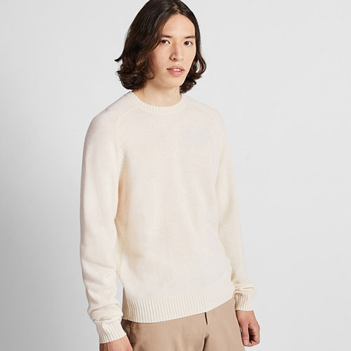プレミアムラムクルーネックセーター(長袖)