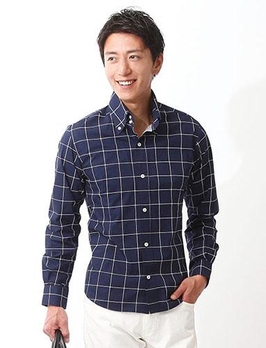 ウインドウペンチェックシャツ