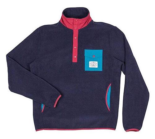 Snap Fleece Pullover Navy
