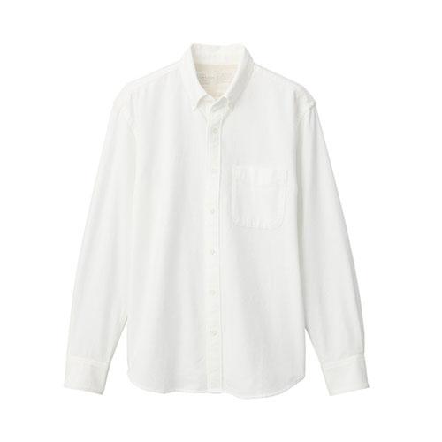 新疆綿フランネルボタンダウンシャツ