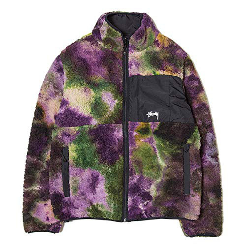 STUSSY/Reversible Micro Fleece Jacket