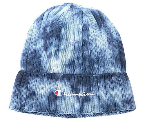 綿100%ムラ染めロゴ刺繍ビーニー帽
