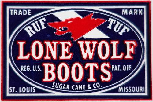 LONE WOLF boots ロゴ