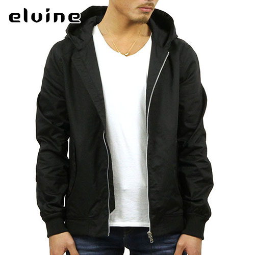 HOODED BOMBER JACKET BLACK