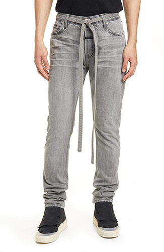 Tie Waist Slim Fit Jeans