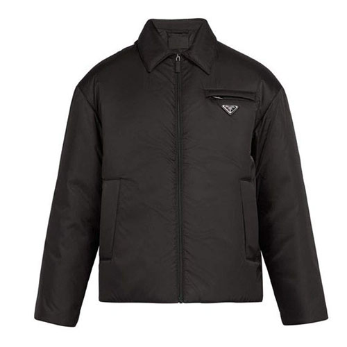 Prada/Logo-plaque padded nylon jacket