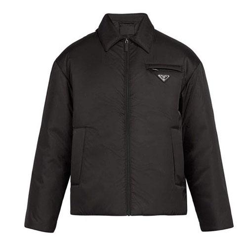 Prada/Logo-plaque padded nylon jacket