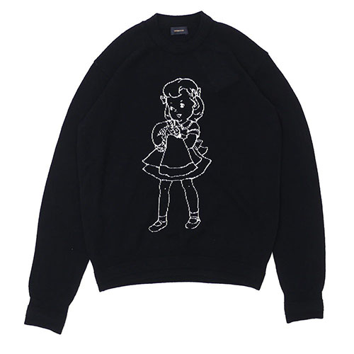 BRAINWASH GIRL JACQUARD KNIT BLACK