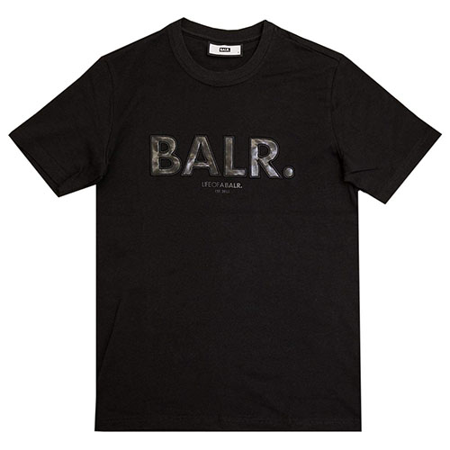 BLACK LABEL OUTLINED LOGO T-SHIRT