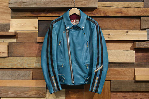 AD-02-TS TWIN STRIPED Double Riders Jacket