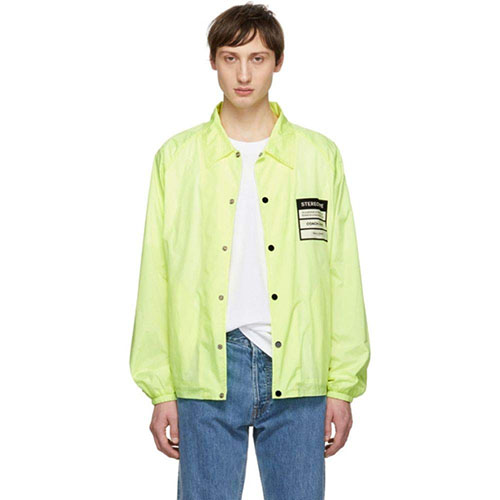 Yellow Nylon 'Stereotype' Coach Jacket