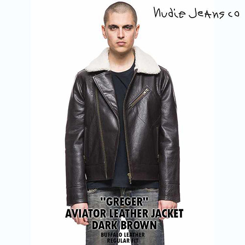 NudieJeans/GREGER AVIATOR LEATHER JACKET