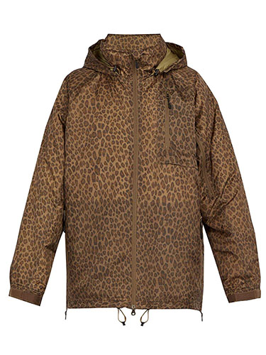 Leopard-print down jacket