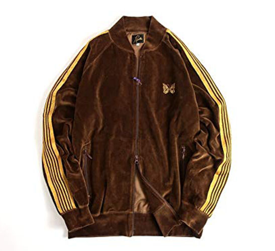 Rib Collar Track Jacket-C Pe Velour