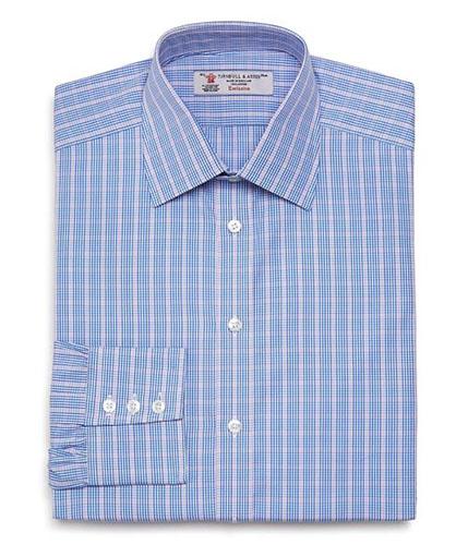 Multi Check Button Up Dress Shirt