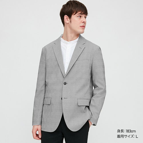 感動ジャケット(グレンチェック・袖丈着丈標準)セットアップ可能