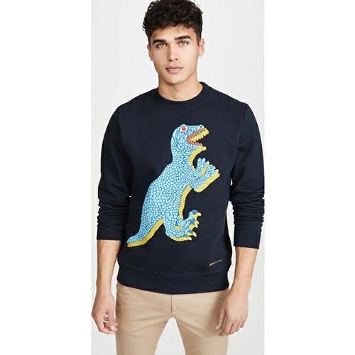 Dino Print Sweatshirt Navy
