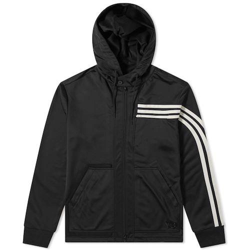 3 stripe hooded track jacket