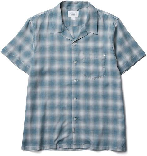 CRIMIE OPEN RAYON SHORT CHECK SHIRT