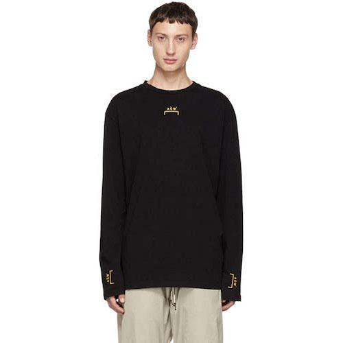 Black Bracket Tape Long Sleeve T-Shirt