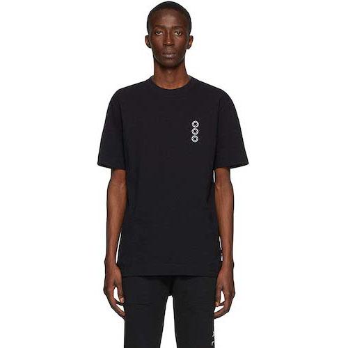 黒セリグラフロゴTシャツ