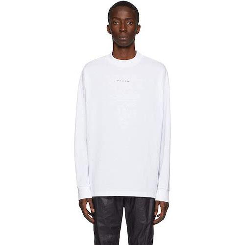 白ロゴ長袖Tシャツ