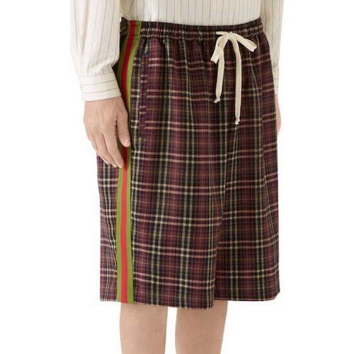 Oversize Tartan Cotton Shorts